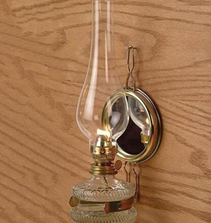 wall oil lamp with reflector