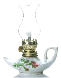 Purism aladdin porcelain mini oil lantern