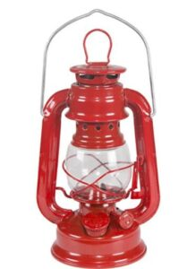 best table and hanging oil lamp for camping