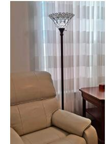 tiffany style torchiere floor lamps with stained glass shade