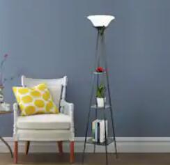 white torchiere floor lamp