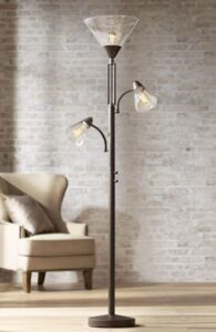 torchiere with task light floor lamp