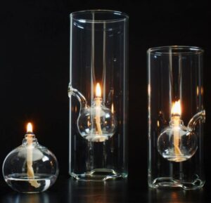 oil lamp shades and sizes