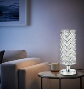 crystal nightstand lamps