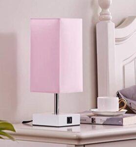pink nightstand lamp