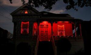 red porch light