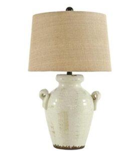 pottery barn ceramic nightstand lamps