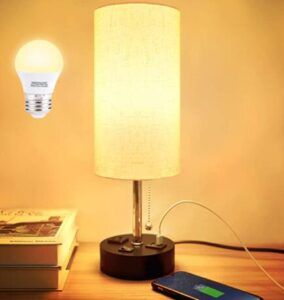 bedroom nightstand lamps with usb charger