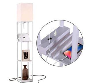 Brightech tall nightstand floor standing lamp