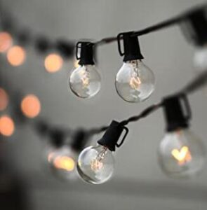 outdoor globe string lights