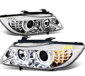 3D Halo Chrome Projector Headlight