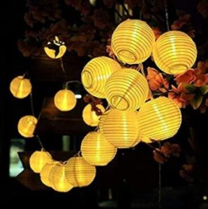 hanging outdoor string lights