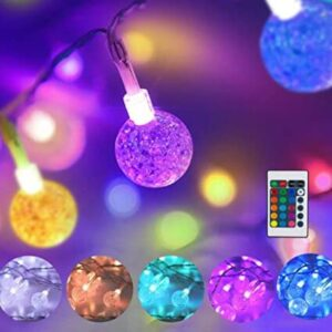 multi colored outdoor string lights