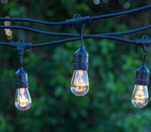 brightech ambience pro waterproof led outdoor solar string lights 1w vintage edison bulbs