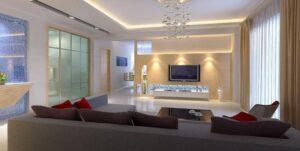 led light colors to make living room warmer