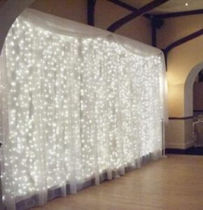 white outdoor string lights