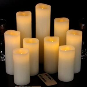outdoor battery candles