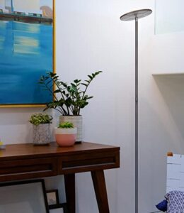 Brightech bright torchiere for dark living room