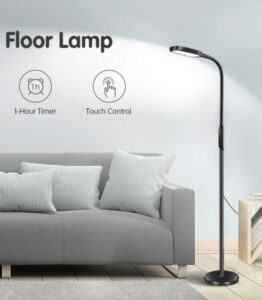 led floor lamp with dimmable light for dark office