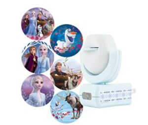 Frozen theme plug in night light projector