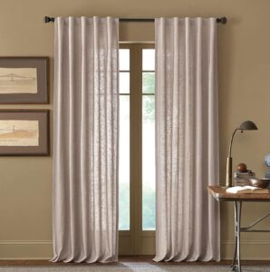 light-colored curtain