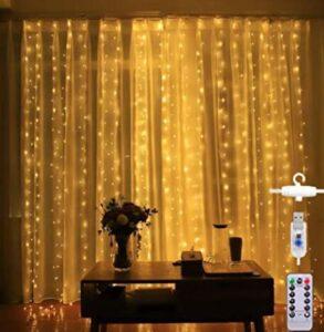 garden curtain lights