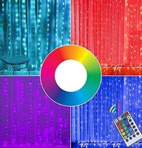 multicolor curtain lights