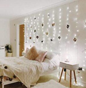 curtain lights on wall