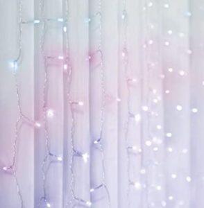 curtain lights pink