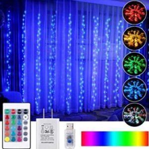 snowflake curtain lights