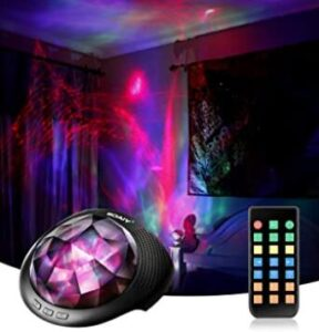 rotating night light projector with remote