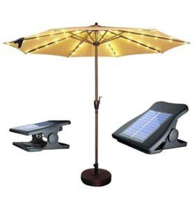 solar led patio umbrella light