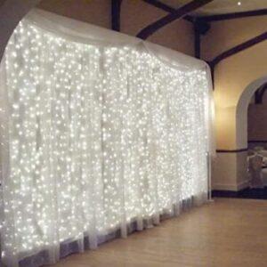 white curtain lights