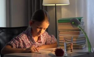 table lamp for study with battery